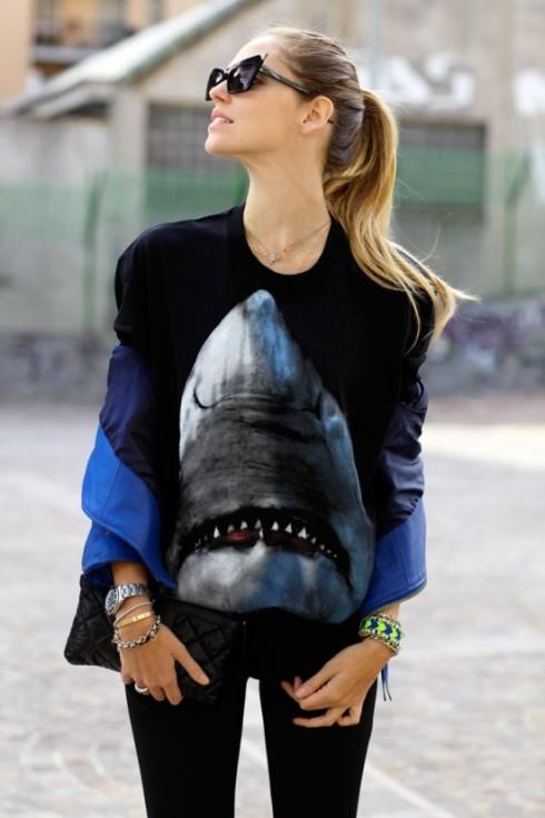 camiseta givenchy tubarao